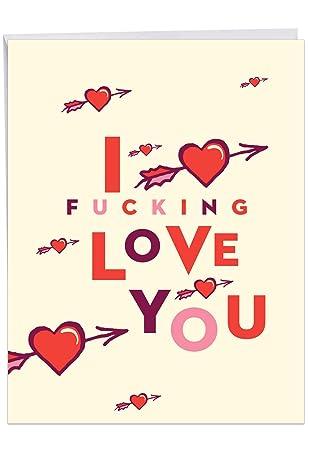 Amazon.com: Tarjeta de San Valentín con sobre, diseño de ...