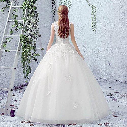 Spalle Sposa UN Cerimonia Del Del Vestito Nuziale il Merletto da DIDIDD Cerimonia Le Della Vestito Nuziale da XL Veste qfgHB