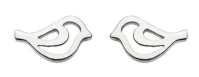 Dew Sterling Silver Bird Stud Earrings Bq6OXKCc