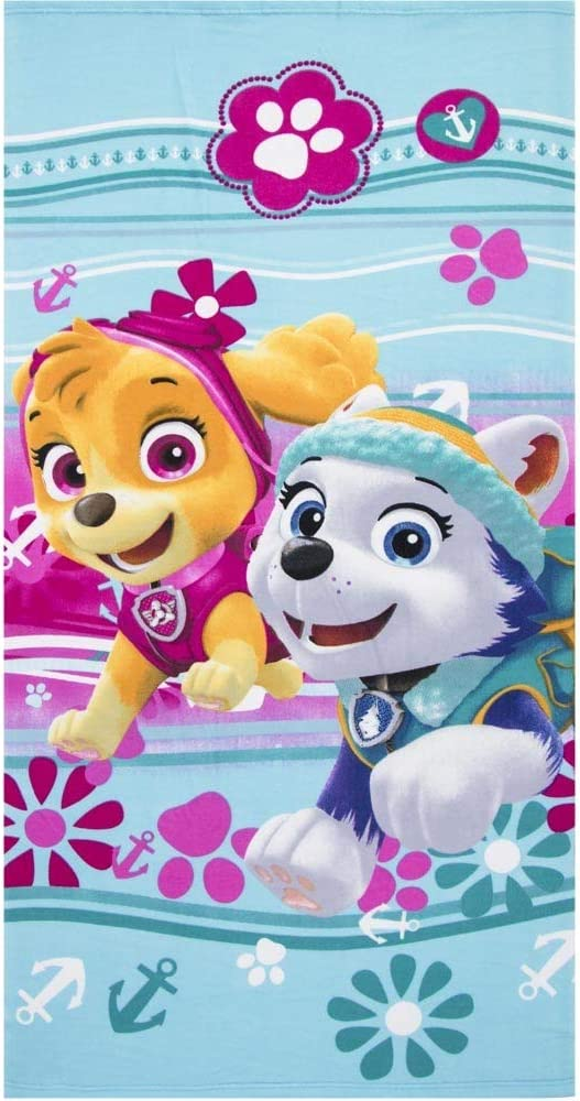 Nickelodeon Paw Patrol Licensed Skye Everest Characters Microfibre Beach Bath Towel Quick Dry Ultra Soft Large Size Blue