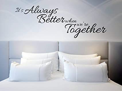 Amazon.com: Dozili Above Bed Wall Decal Quote Bedroom Wall ...