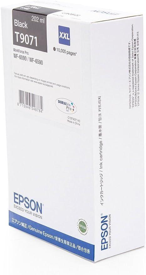 Original Epson C13t907140 T9071 Premium Drucker Patrone Schwarz 10000 Seiten 202 Ml Bürobedarf Schreibwaren