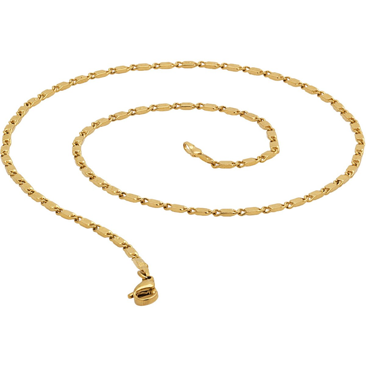 09079d26a3c8df Fashion Frill Biscuit Shape Designer Fancy Gold Plated Metal Neck Chain for  Men Boys: Amazon.in: Jewellery