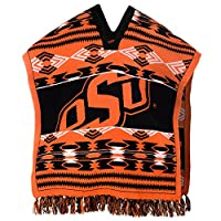 NCAA Oklahoma State Cowboys Poncho, Orange, Adult Size