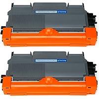 Mipelo TN-2220 TN2220 Cartuchos de tóner, 2 Negro Reemplazo Compatible para Brother HL-2130 FAX-2840 FAX-2845 FAX-2940…