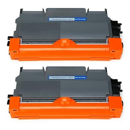 Mipelo TN-2220 TN2220 Cartuchos de tóner, 2 Negro Reemplazo Compatible para Brother HL-2130 FAX-2840 FAX-2845 FAX-2940 MFC-7460DN HL-2250DN DCP-7055 ...