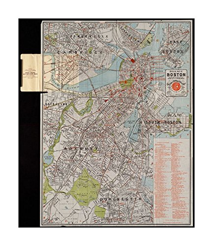 1895 Map Boston Official Of Boston Relief Shown By Spot Heights  Covers Also Parts Of Brookline  Cam