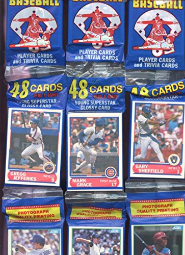 fan products of 12 1989 Score Baseball Rack Pack EQUALS Wax Box Gary Sheffield Young Rookie Card