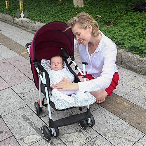 Baby Stroller Pad, Universal Cotton Cushion Padding Reversible Seat Liner Prams Buggy Carseat Travel for Infants Newborns Babies Kids (Grey Crocodile)