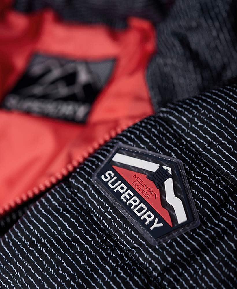 Superdry Damen Fuji Slim Double Ziphood Jacke Navy Scribble