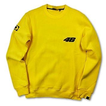Valentino Rossi VR|46 MotoGP Mens Amarillo 2002 - 01 - Jersey con Cuello Redondo para Mujer, Hombre, Amarillo: Amazon.es: Deportes y aire libre