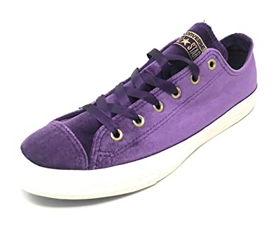 72cf2078c080 Image Unavailable. Image not available for. Color  Converse CTAS Chuck  Taylor All Star OX Night Purple White White 3.5 M