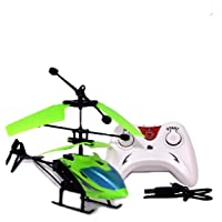 Gooyo Exceed Induction Flight Electronic Radio RC Remote Control Toy Charging Helicopter with 3D Light Toys for Boys Kids (Indoor Flying) (Green)