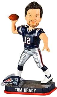 fac06258269 Tom Brady New England Patriots NFL 2014 Springy Logo Bobblehead Figurine
