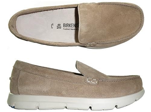 Birkenstock Domingo Zapatos Hombre Mocasines Ante Azul Size: eu 41: Amazon.es: Zapatos y complementos