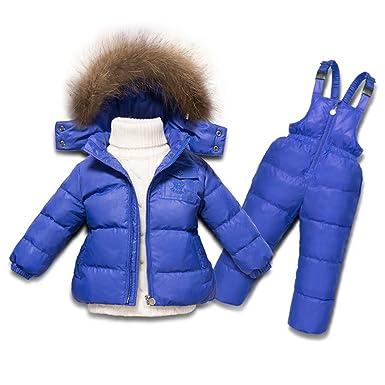 XIRUI Chaqueta de esquí para niño Chaqueta niña Abrigos niño Pantalones de Nieve Ropa de Invierno Set: Amazon.es: Ropa y accesorios
