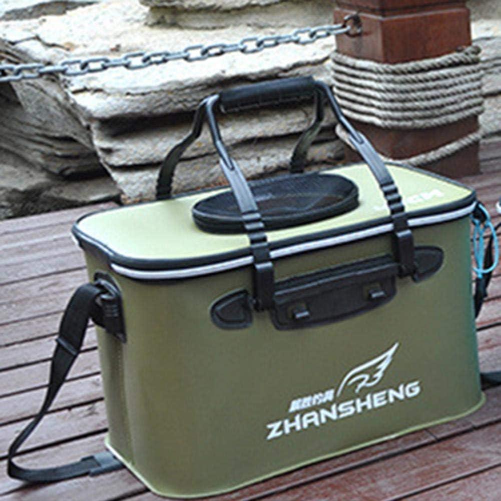 para eva AIHOME Cubo Plegable para Peces Pliegues Transpirables y m/óviles Acuario o Pesca Resistente al Agua