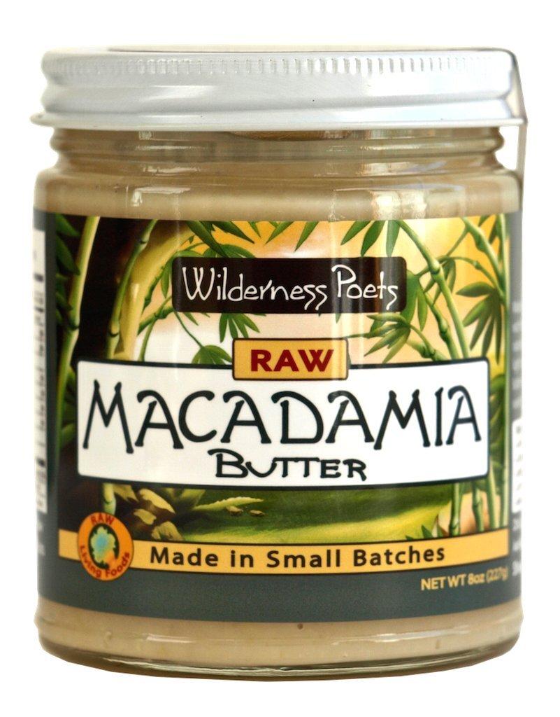 Wilderness Poets Raw Macadamia Butter (8 oz Glass Jar)