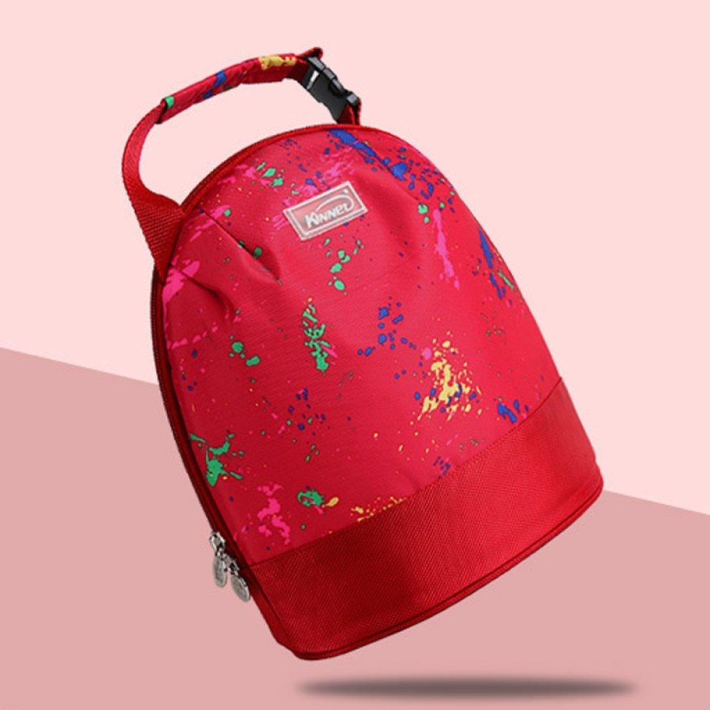 Lunch Bag Für Isolierte Kühltasche Lunchbox mit Verstellbarem Schultergurt,ROT