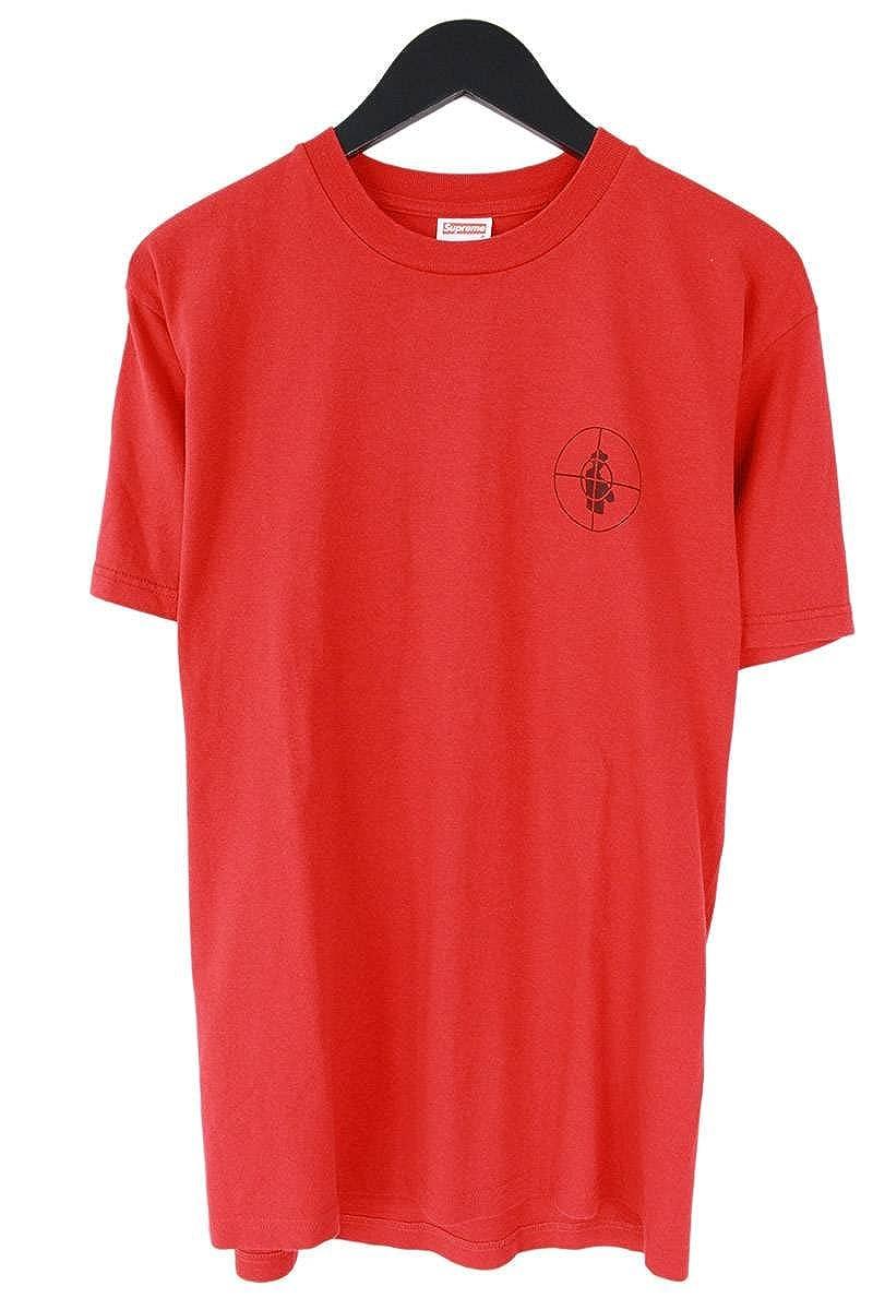 (シュプリーム) SUPREME ×パブリックエネミー 【06AW】【Nation of Millions Tee】ターゲットロゴプリントTシャツ(M/レッド) 中古 B07FY8VFQG