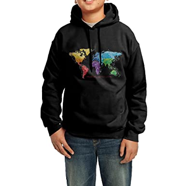 Amazon travel is to live world map geographyteenager long travel is to live world map geographyteenager long sleeved hoodie sport personality sweatshirt gumiabroncs Gallery