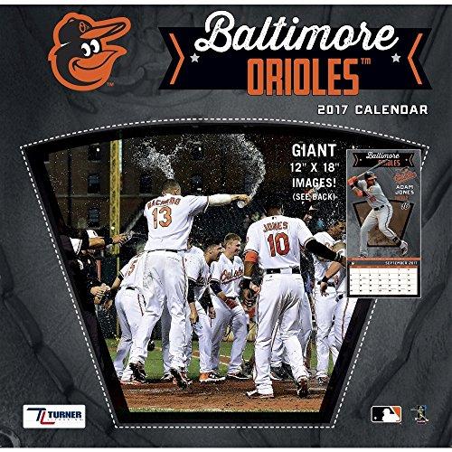 Turner Licensing Sport 2017 Baltimore Orioles Team Wall Calendar, 12