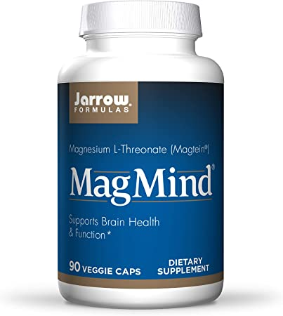 Jarrow Formulas MagMind - 90 Capsules - Includes Magnesium L-Threonate (Magtein) - Supports Brain Health & Function - 30 Servings