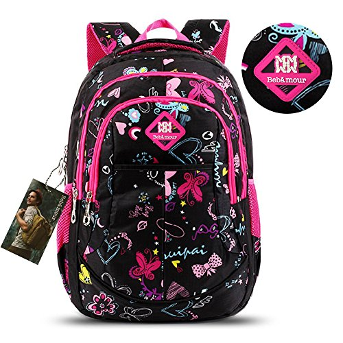 Bebamour Butterfly Sweetheart Pattern Backpack
