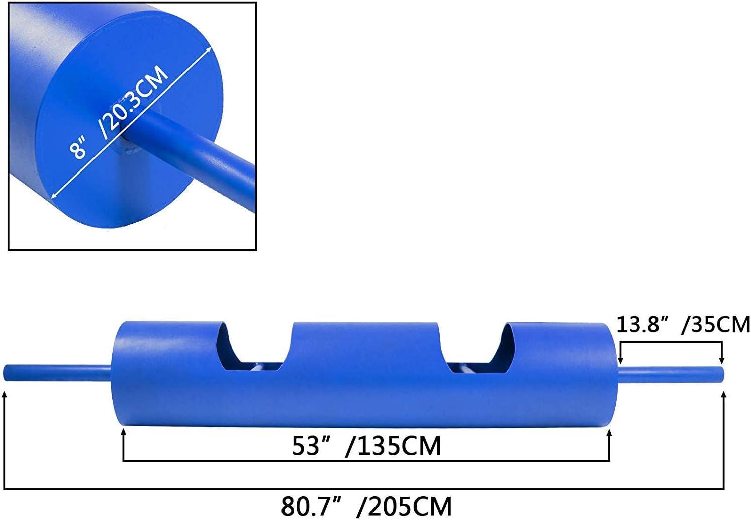 BuoQua 8inch Strongman Log Bar Dia 1.2inch Powerlifting Log Press Bar Weight Lifting Heavy Duty Strength Training Blue