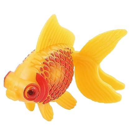 bleumoo Acuario Fish Tank plástico natación Faux Fake oro peces ...