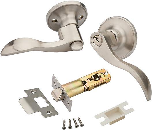 MANREN Lever Keyed Entry Door Lever Handle Lock 805R Door Knob