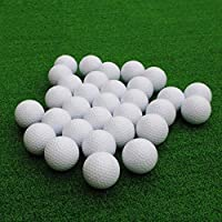 Gracefulvara 10pcs White Golf Club PU Ball Indoor Practice Foam Toy Ball