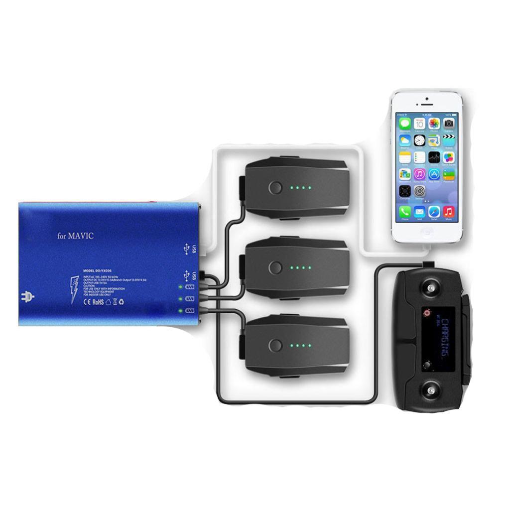 最新な AloneA 5 in 1 Rapidスマートバランスマルチバッテリー充電器RC USB for DJI ブラック 1 Mavic AloneA Pro ブラック B01NAS0XDI, TTF こぞのえスポーツ:cc0d8997 --- arianechie.dominiotemporario.com