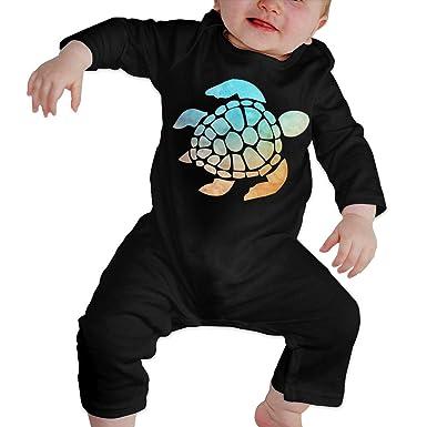 48660d938cd6 Amazon.com  Baby Romper Space Watercolour Turtle 100% Organic Cotton ...