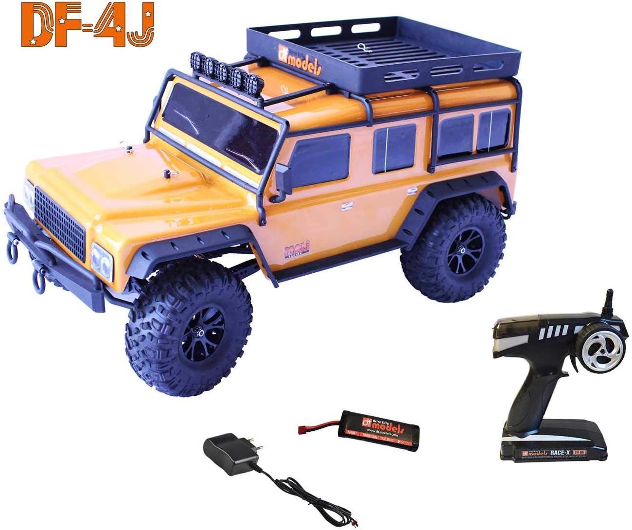 Orange Edition mit Beleuchtung 2.4GHz RTR 1:10 DF-Models DF-4J Crawler