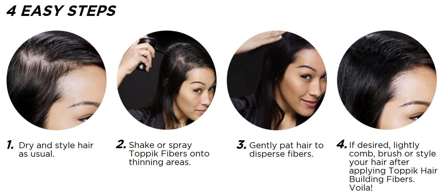 TOPPIK Hair Building Fibers, Black, 0.42 oz. by TOPPIK (Image #6)