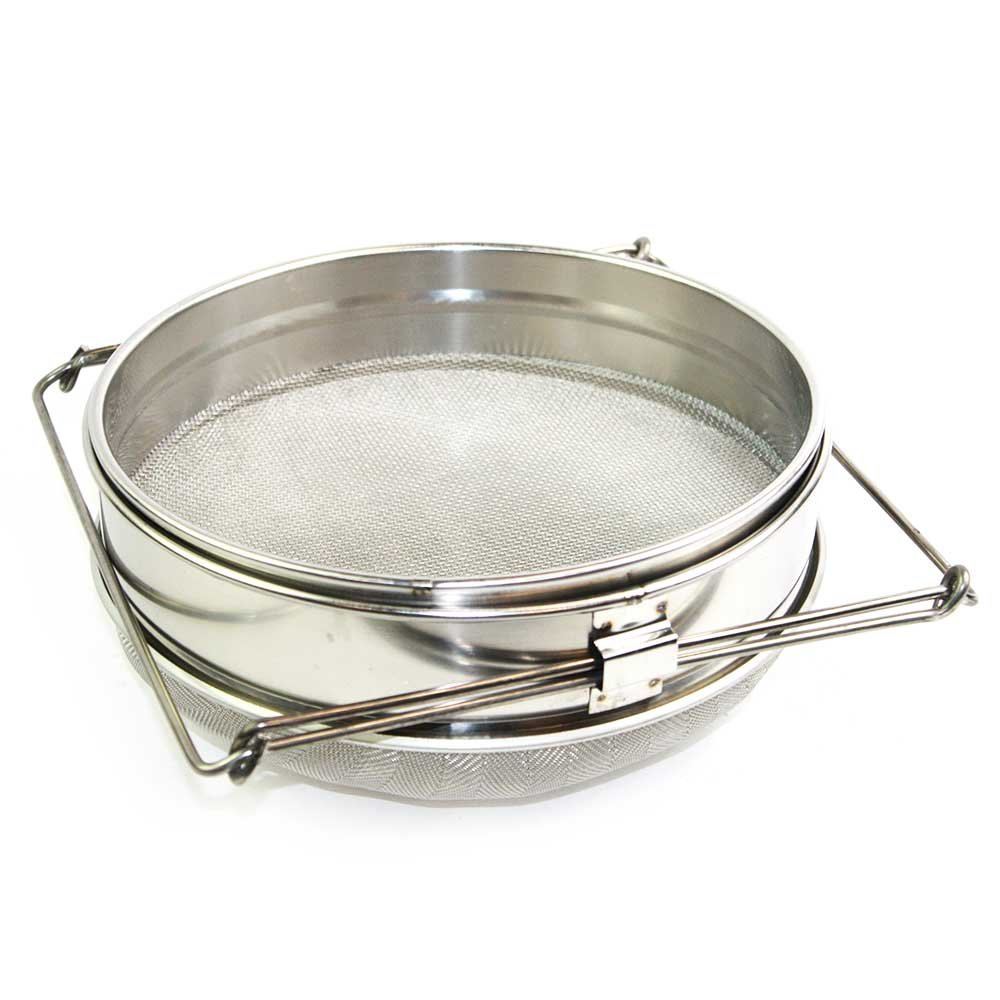 Goodland Bee Supply® Food Grade 304 Double Sieve Stainless Steel Bucket Top Honey Strainer, Filter for Honey processing / Extraction and Filter