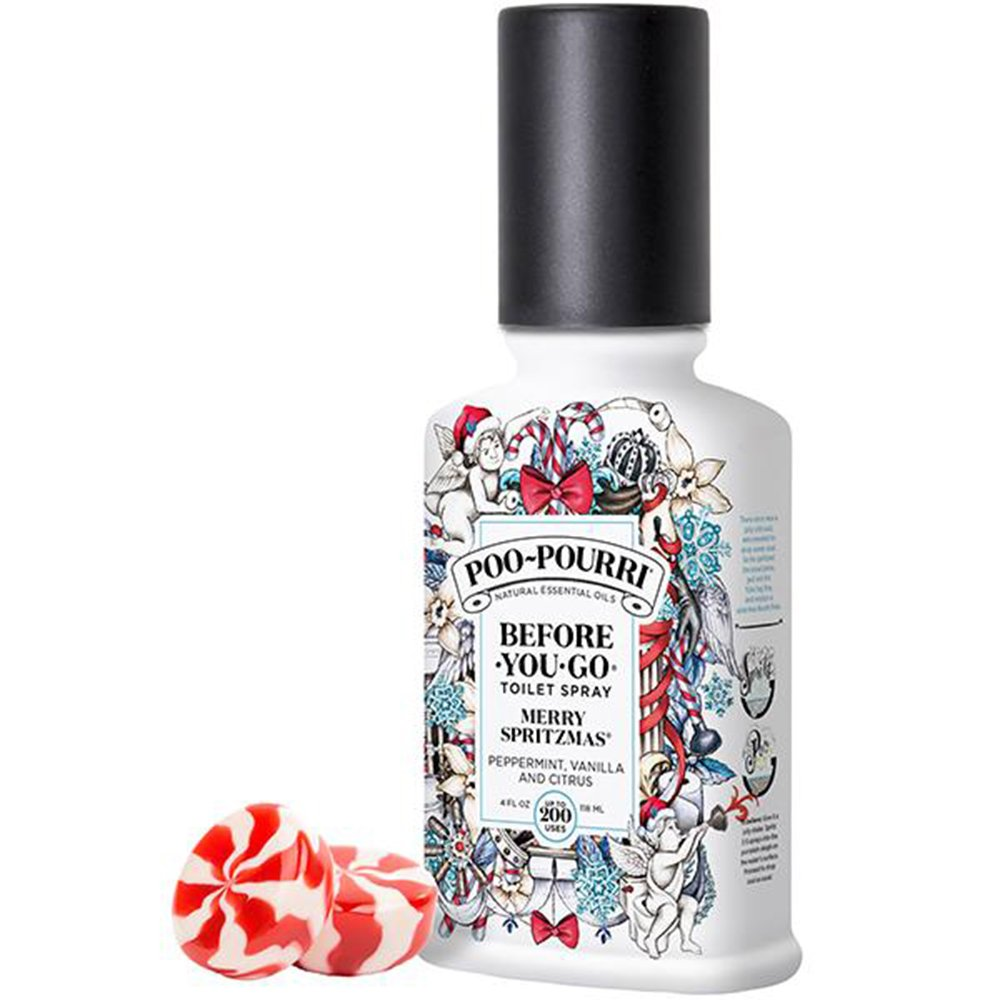 Poo-Pourri Merry Spritzmas Vanilla Peppermint Scent 4 oz Before-You-Go Bathroom Spray by Poo-Pourri