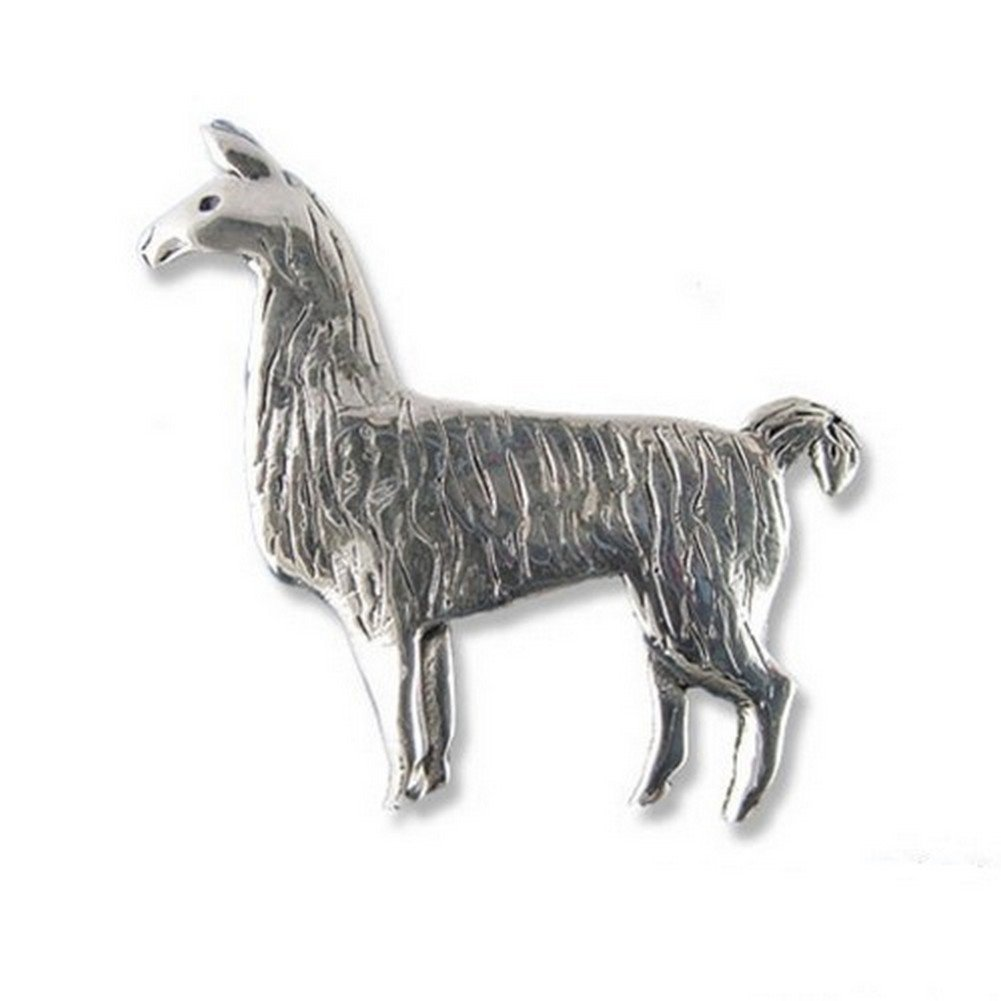 Sterling Silver Llama Pin by The Magic Zoo
