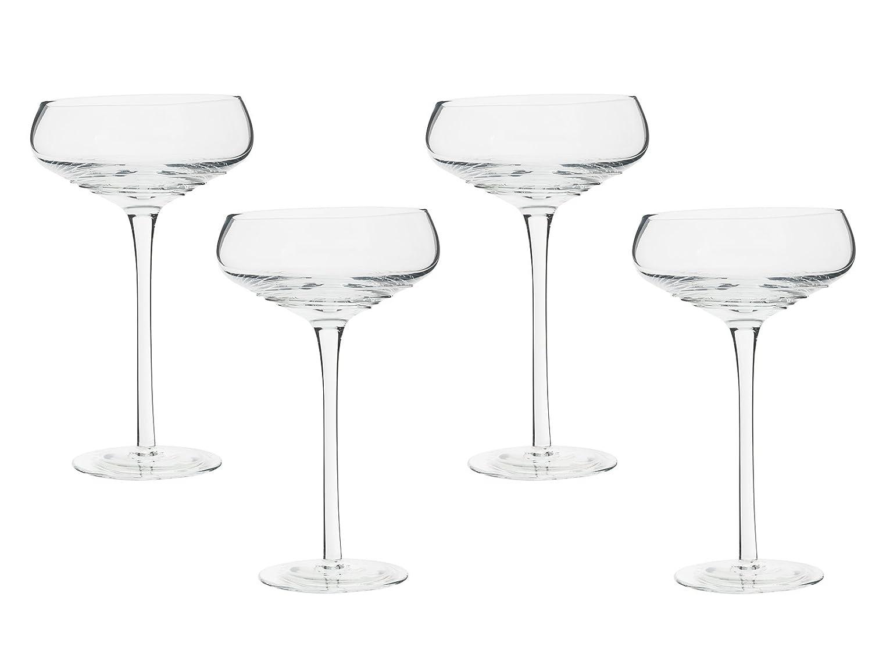 Mikasa Ciara Set of 2 Champagne Saucers, 265 ml (9.5 fl oz) Createive Tops 5178506