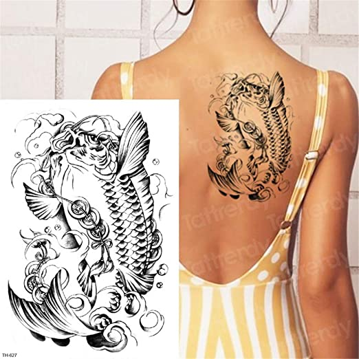 3Pcs-Lion Tattoo Animal Tiger Tattoo Impermeable Cuerpo Grande ...