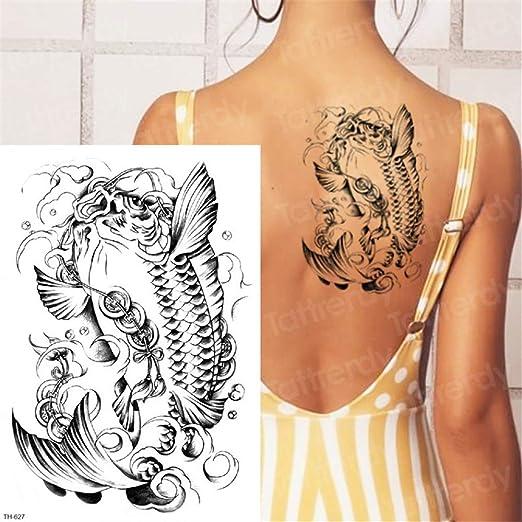 3Pcs-Lion Tattoo Animal Tiger Tattoo Impermeable Cuerpo Grande ...