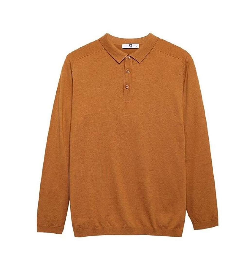 Etecredpow Mens Top Juniors Tee Long-Sleeve Cotton Solid T-Shirts