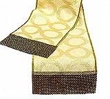 Custom Dining Tables Geometric gold table runner 14x84  Luxury burlap custom tablecloth  Sequin dining table decor  Glitter Christmas wedding party table top by SABDECO