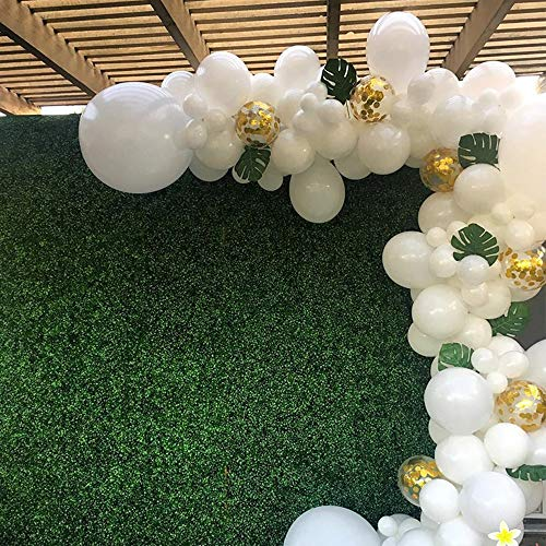 White Latex Balloons - White Latex Balloons with Gold Confetti Balloons Pack of 100,for Wedding Birthday Party Baby Shower Decoration