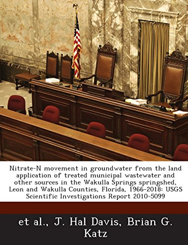 - Nitrate-N Movement in Groundwater from the Land Application of Treated Municipal Wastewater and Other Sources in the Wakulla Springs Springshed, Leon