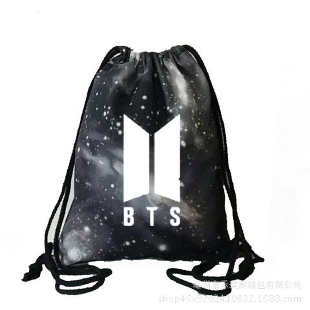 Rainlemon Kpop BTS Bangtan Boys Drawstring Bags Galaxy BTS New Logo Love Yourself Backpack Shoulder Bag
