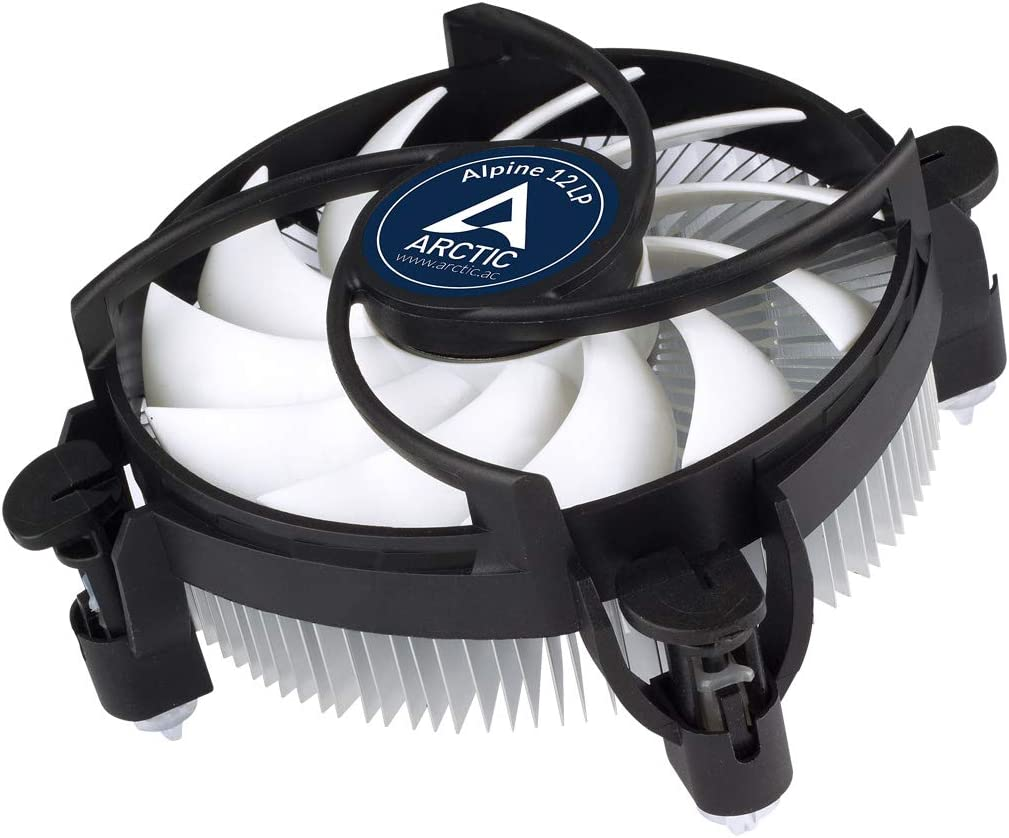 ARCTIC Alpine 12 LP - CPU Cooler for Intel Sockets with 92 mm PWM Fan, Low Profile, up to 75 W Cooling Power, with Pre-Applied MX-2 Thermal Compound, Easy Installation