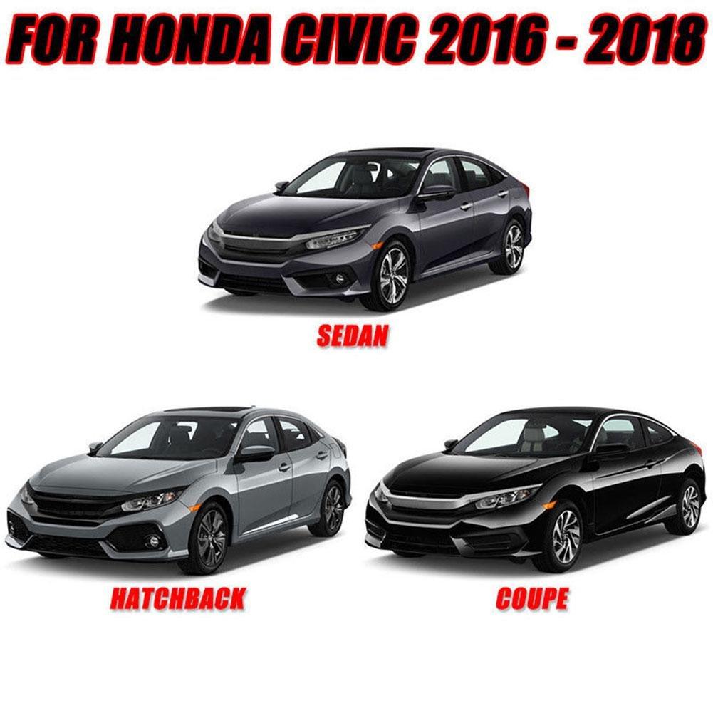 aluminio rojo ZHUOTOP Carcasa de repuesto para Honda Civic 2016-2018