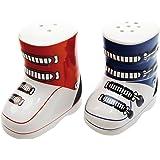 ebos chaussure de salière et poivrière lot de 2 pièces rouge/bleu